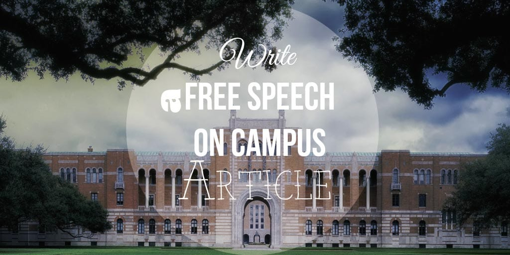 Free Speech on Campuses